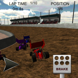 Sprint Car Dirt Track Racing